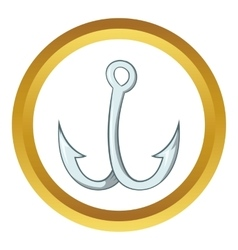 Hook for fishing icon vector image