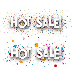 Hot sale paper banners vector image