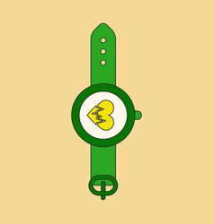 Icon in flat design sports watches vector