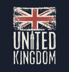 inscription great britain with british flag vector image