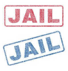 Jail textile stamps vector