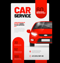 Layout design template for car wash service vector