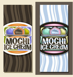 layouts for mochi ice cream vector image