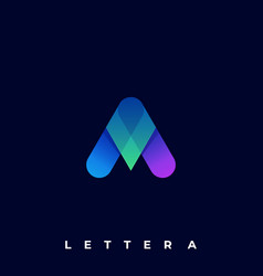 letter a color template vector image