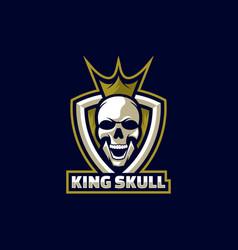 logo king skull e sport and sport style vector image