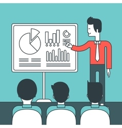 Man presenting business report vector