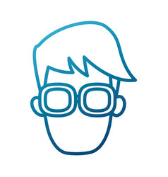 man with glasses vector image