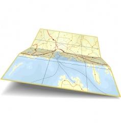 Map folding vector