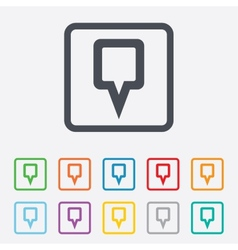 Map pointer sign icon Marker symbol vector image