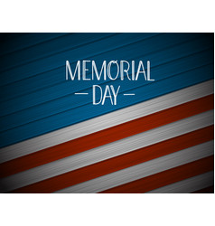 Memorial day greeting banner vector