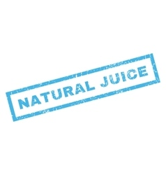 Natural Juice Rubber Stamp vector image