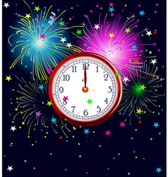 New Year Clock vector
