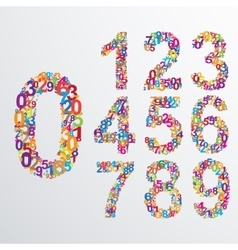 numbers from number set vector image