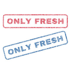 only fresh textile stamps vector image
