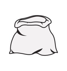 Open sack icon vector