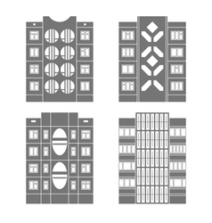 Panel houses set3 vector