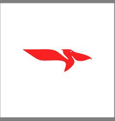 pelican bird logo abstract design template vector image