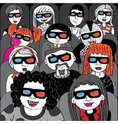 People in the audience cinema vector image