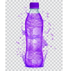 Plastic bottle with juice vector