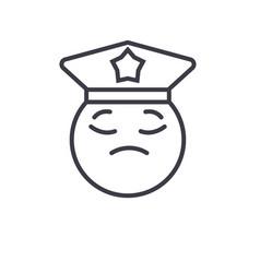 policeman emoji concept line editable vector image