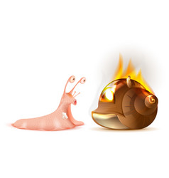 Property insurance conch shell snail fire vector