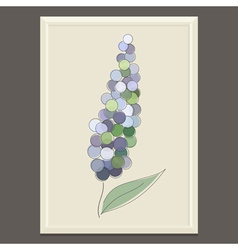 Purple spring flower vector image