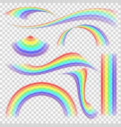 rainbow set different shape collection vector image vector image