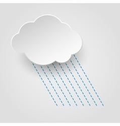 Rainy cloud icon vector image