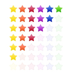 Rate Stars vector