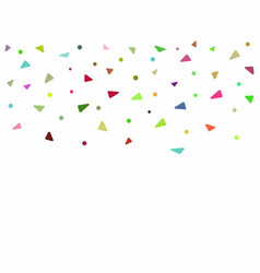 Rectangular background with colorful confetti vector