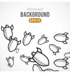 Rocket ship cartoon background vector image