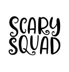 scary squad halloween party poster vector image