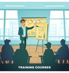 School Training Courses Education Poster vector