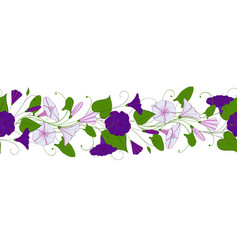 Seamless pattern of convolvulus garland with vector