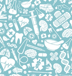 Seamless pattern with medical icons vector