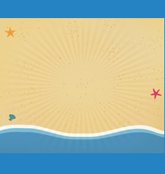 seaside background or border frame with radiant vector image