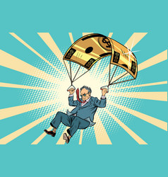 senior citizen golden parachute financial vector image