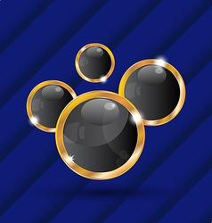 set golden abstract balls as speech bubbles vector image