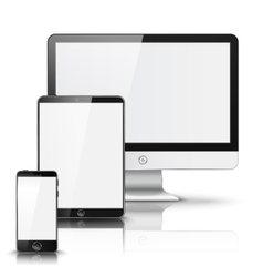 Set of all size screen devices for site preview vector image