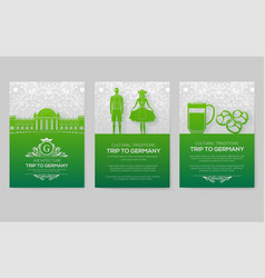 set of germany country ornament vector image
