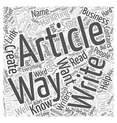 Simple Ways to Start Creating Marketing Article vector