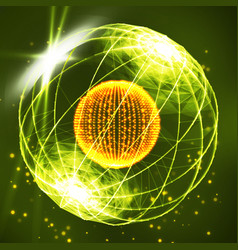 Sphere consisting points data exploding sphere vector