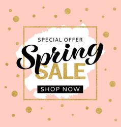 spring sale banner design template vector image