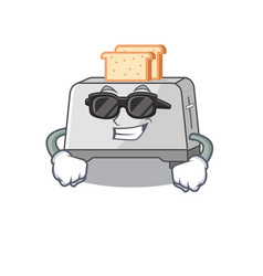 Super cool bread toaster character wearing black vector