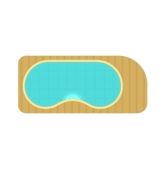 Swimming pool top view blue water spa leisure vector