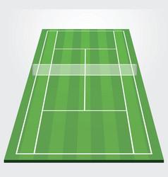 Tennis court vector