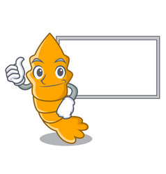 Thumbs up with board shrimps on a character vector