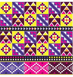 Tribal kente cloth style pattern african vector
