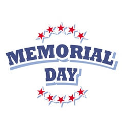 Us memorial day logo isolated on white background vector