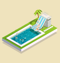 Water park pool composition vector